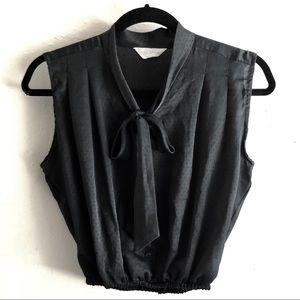 VTG • Silk Tie Neck Blouse